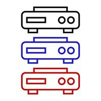Icono de reproductor de DVD sobre fondo blanco. vector