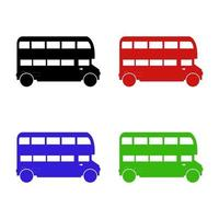 English Bus Icon On White Background vector