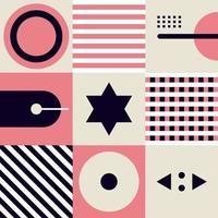 Formas geométricas abstractas y forma de fondo de composición de patrón simple vector
