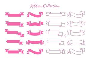 Swaying ribbons for retro text labels Product price tag Isolated on white background vector