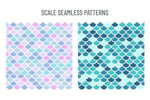 Seamless pattern of mermaid scales Beautifully arranged fish scales. Isolated on background vector
