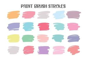 A colored brush that is painted as a text box. Isolated on white background vector