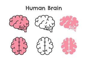 Human brain vector Wavy Symbol of learning Intelligence and an optimistic attitude