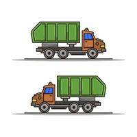 icono de camión de basura sobre fondo blanco vector