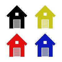 Garage Icon On White Background vector