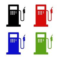Gas Station Icon On White Background vector