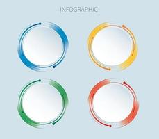 Infographics design vector with 4 options, steps or processes.