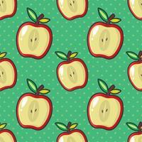 apple slice seamless pattern illustration vector