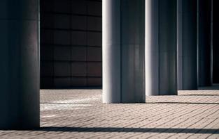 Columns of a modern building photo