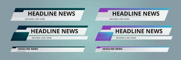 News Lower Thirds Pack. Sign Of live News, Ultra HD. Banners For Broadcasting Television Video Template. Isolated Illustration vector