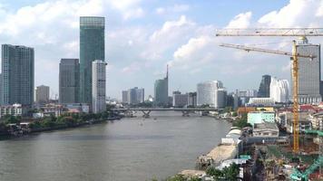 Bangkok Stadt mit Fluss in Thailand