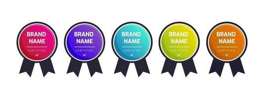 Logo badge for certification technical, analyst, internet, data, management system, etc. vector