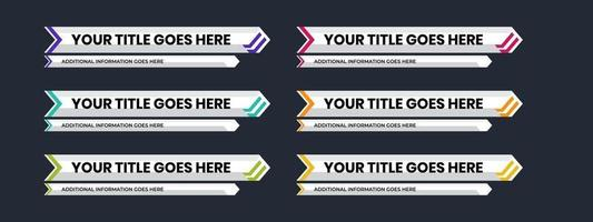 Lower third with best white modern design. Twitch overlay title name bar display. vector