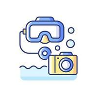 icono de color rgb de fotografía submarina vector