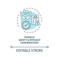 Safety and efficacy confirmation concept icon vector