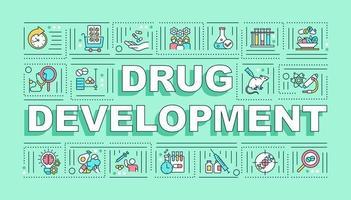 Drug development word concepts banner vector