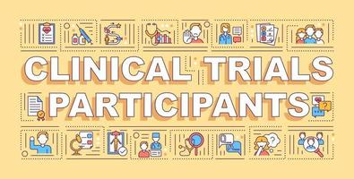 Clinical trial participants word concepts banner vector
