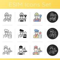 Social classification icons set vector