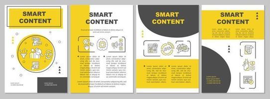 plantilla de folleto de contenido inteligente vector