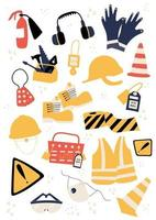 Safety equipment and PPE clipart vector