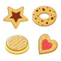 Set of pastries vector