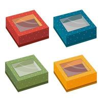 Set of colorful boxes vector