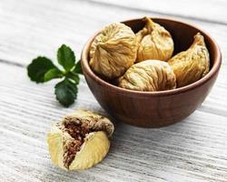 Tasty dried figs photo