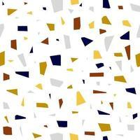 Modern terrazzo seamless pattern. Terrazzo background. vector