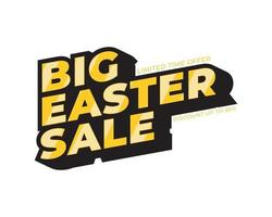 Sale Easter banner. Gold text. Super Sale Gold Text. Super Sale Background for your promotional brochure or booklet, posters, advertising shopping flyers, discount banners 50 off. vector