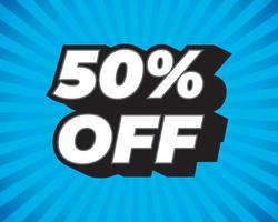 gran venta de verano, hasta un 50 por ciento de descuento, plantilla de diseño de póster, tamaño de volante, ilustración vectorial vector