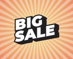 gran venta de verano, plantilla de diseño de carteles, tamaño de volante, ilustración vectorial. vector