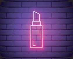 lipstick line neon icon vector