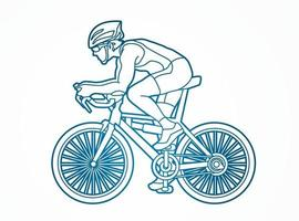 Bicycle Sport Action Outline vector