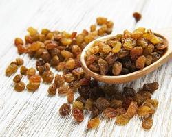 Yellow golden raisins photo