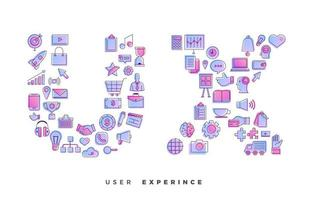 UX icon collage vector