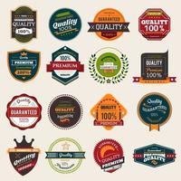 Quality badges set vector