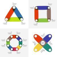 conjunto de infografías coloridas vector