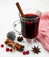 Mulled wine on a table photo