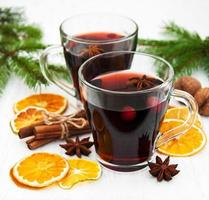 Mulled wine on a table