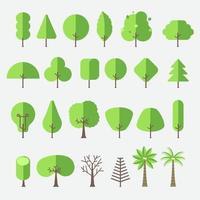 Tree icon set vector