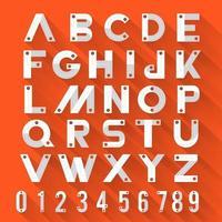 alfabeto conjunto de fuente plana 3d vector