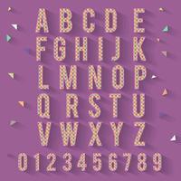 Mosaic colorful tile alphabet set vector