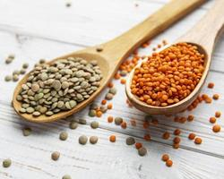 Different raw lentils