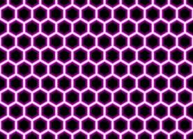 Abstract geometric pink hexagon seamless pattern background vector