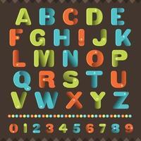 Colorful 3d alphabet set vector
