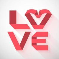 Love ribbon design vector