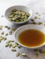 Bowl with pumpkin seed oil