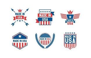Made in USA Logo Template vector