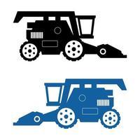 cosechadora cosechadora icono sobre fondo blanco vector