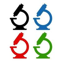 Microscope Icon On Background vector